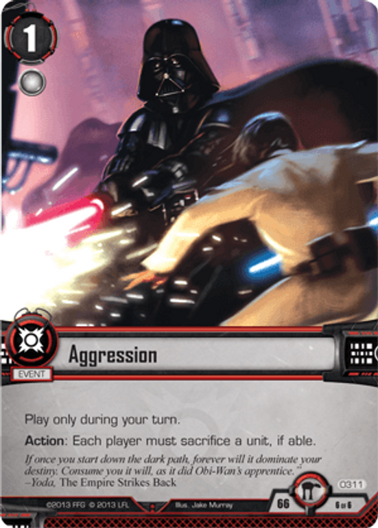 Star Wars: The Card Game - Escape from Hoth Aggression card