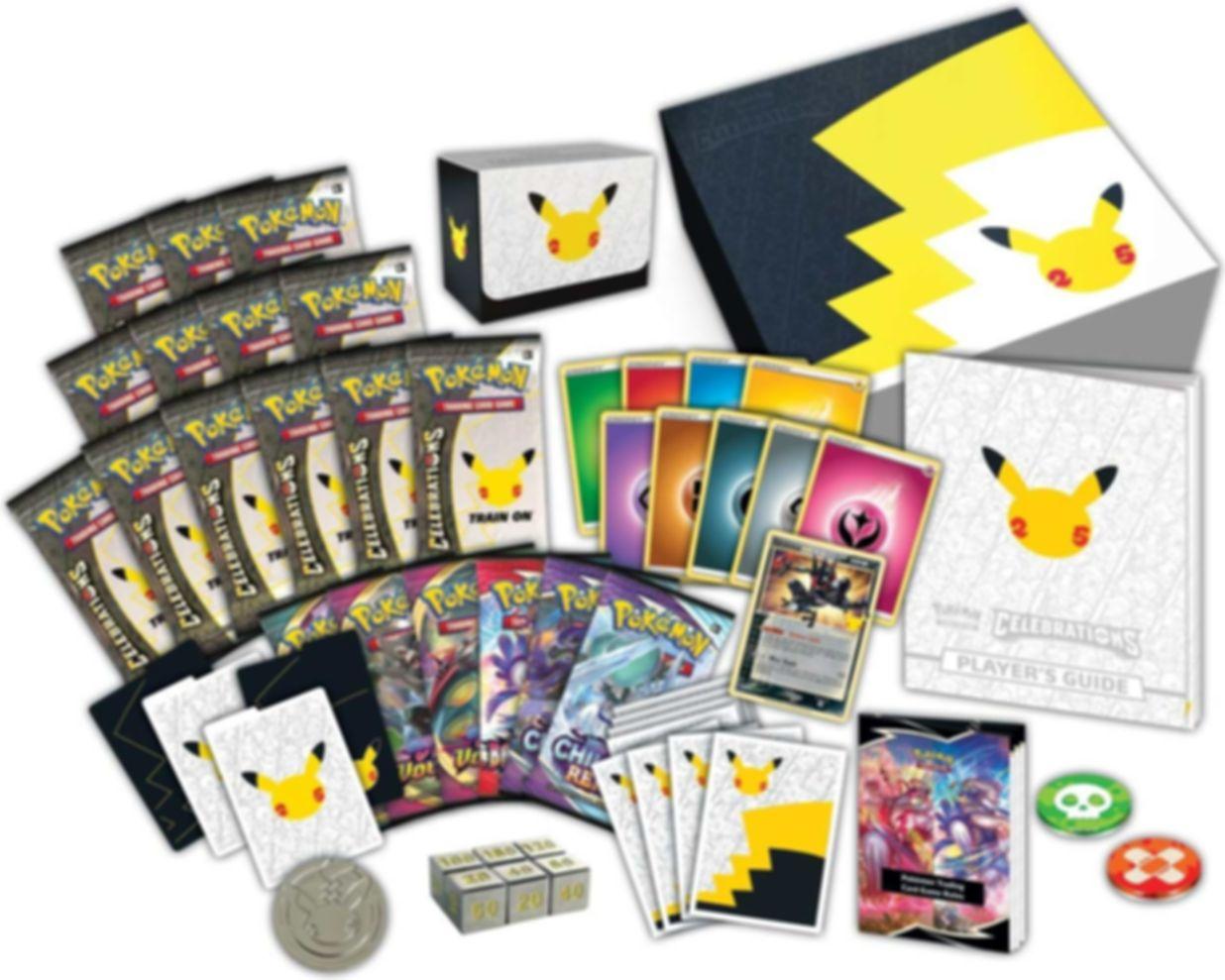 Pokémon TCG: Celebrations Elite Trainer Box components