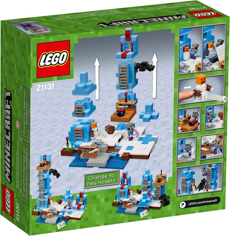 LEGO® Minecraft The Ice Spikes back of the box