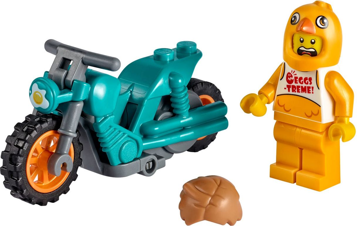 LEGO® City Chicken Stunt Bike components