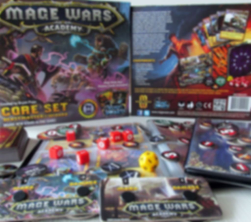 Mage Wars Academy components