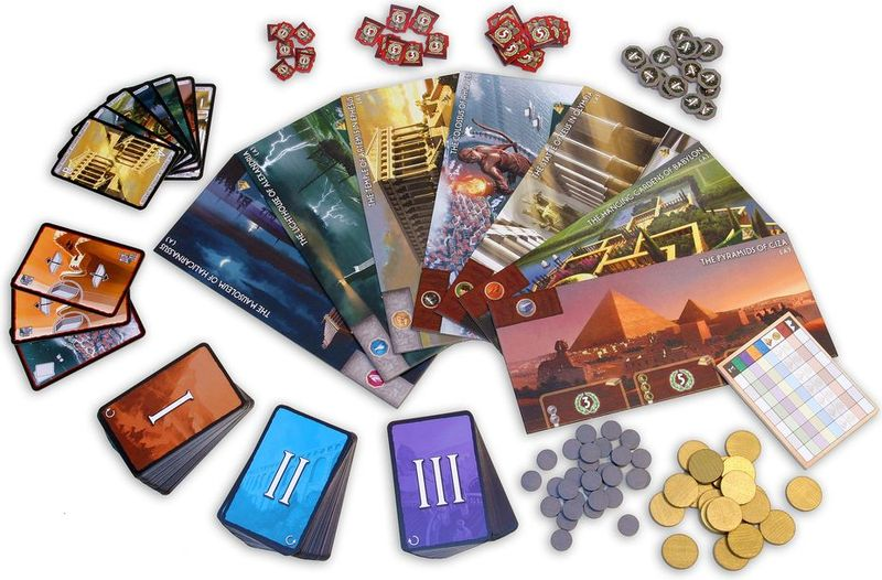 7 Wonders components