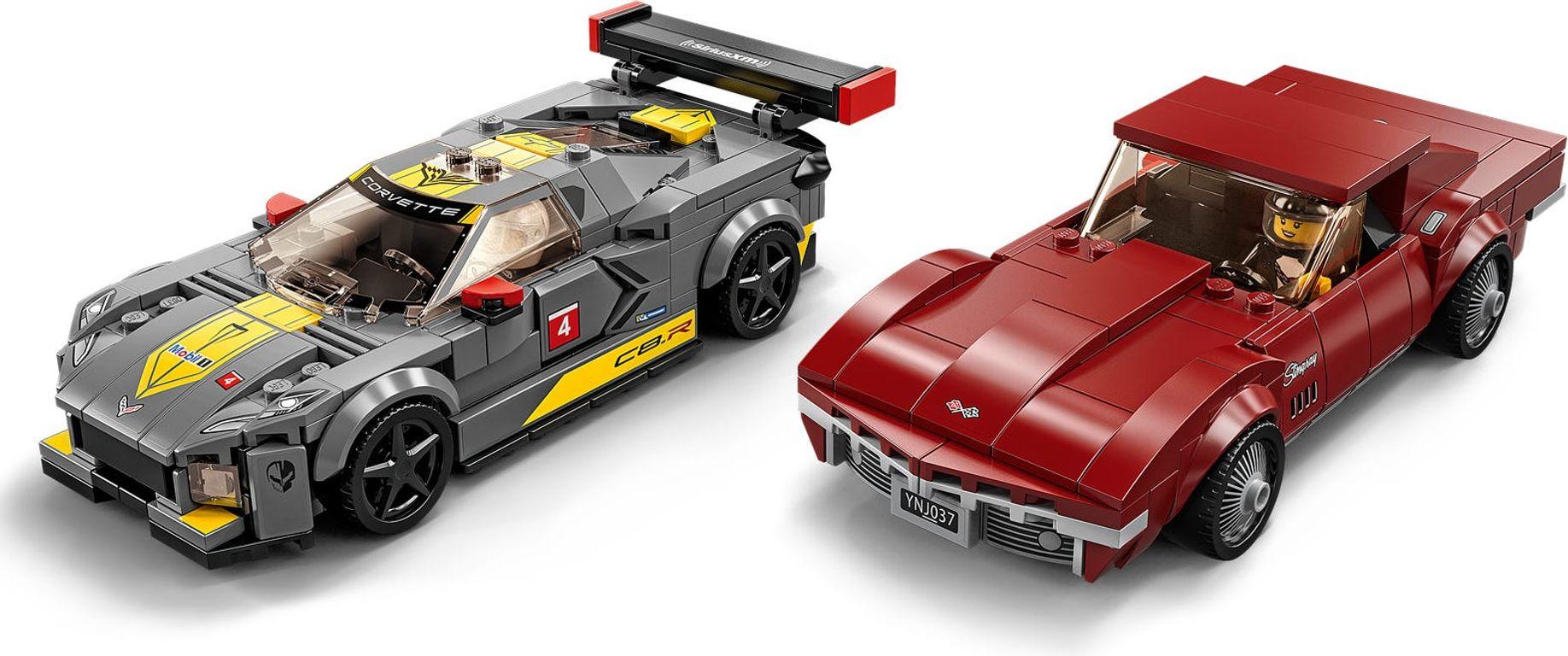 LEGO® Speed Champions Chevrolet Corvette C8.R Race Car and 1968 Chevrolet Corvette gameplay