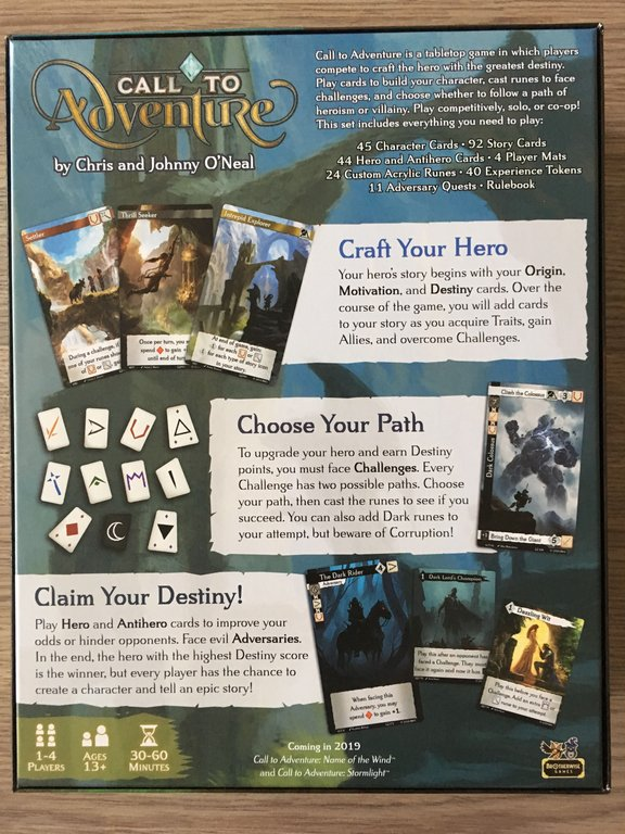 Call to Adventure back of the box