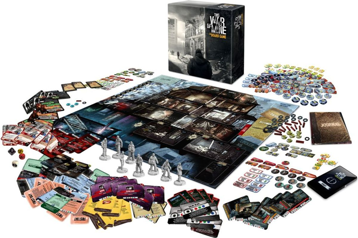 This War of Mine: The Board Game components