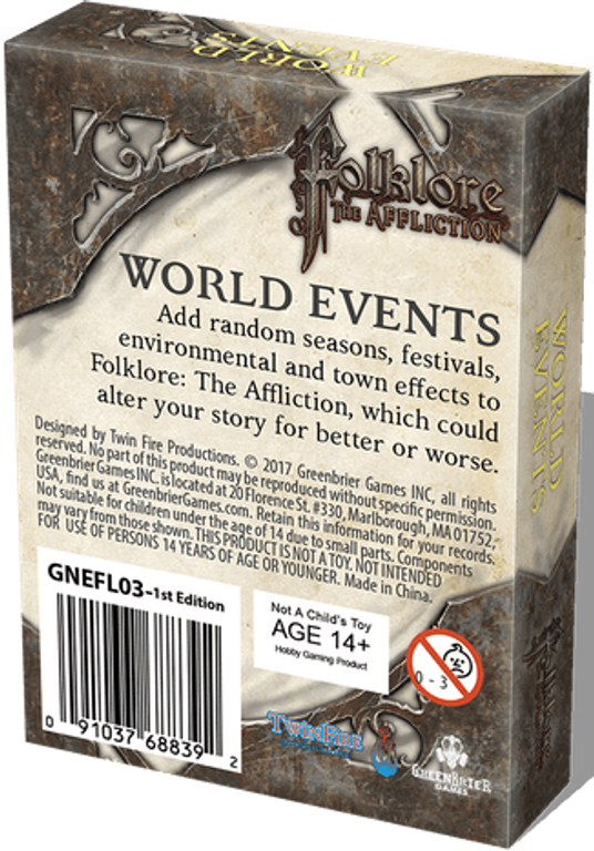 Folklore: The Affliction - World Events back of the box