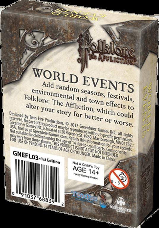 Folklore: The Affliction - World Events rückseite der box