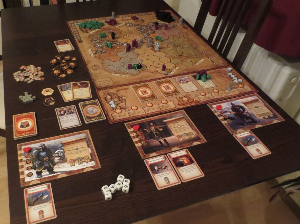The Dwarves: The Saga Expansion components