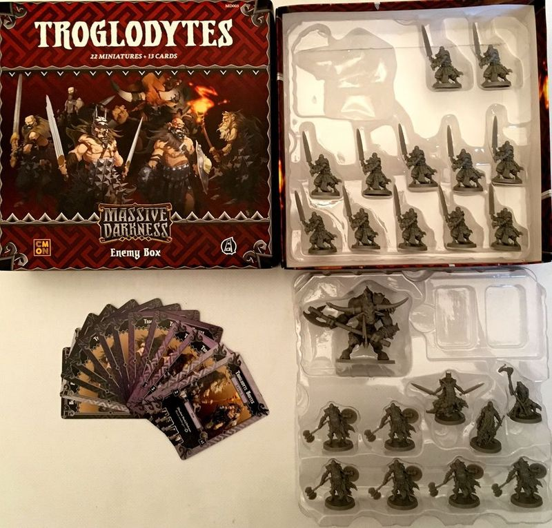 Massive Darkness: Enemy Box - Troglodytes components