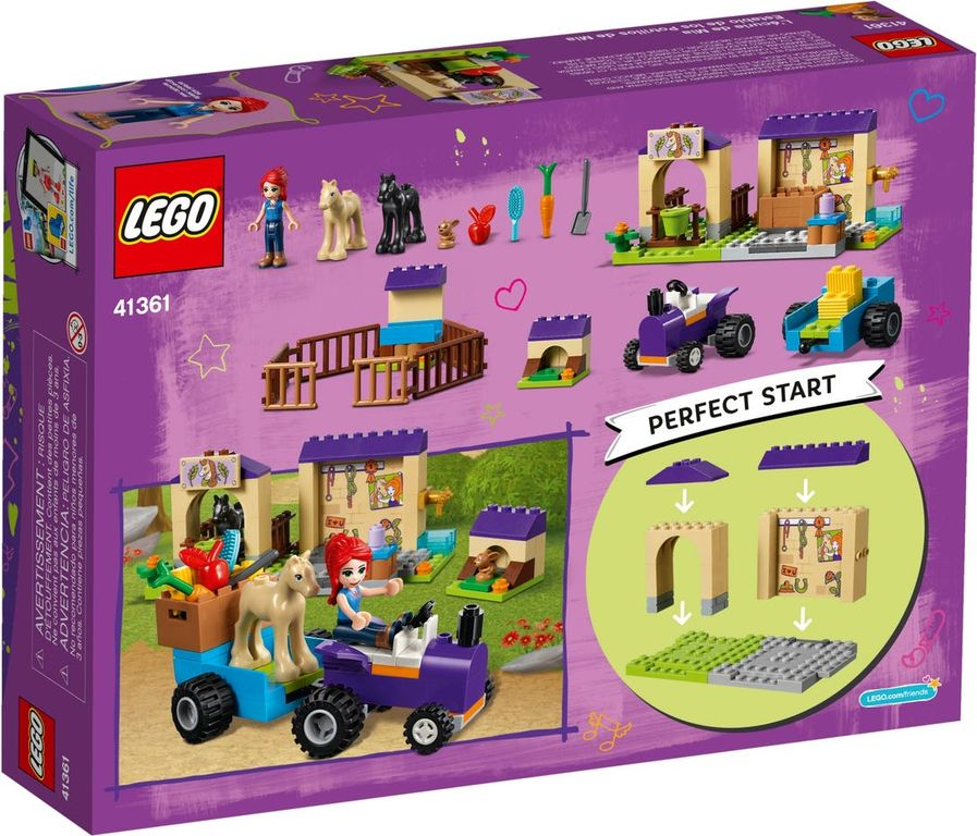 LEGO® Friends Mia's Foal Stable back of the box