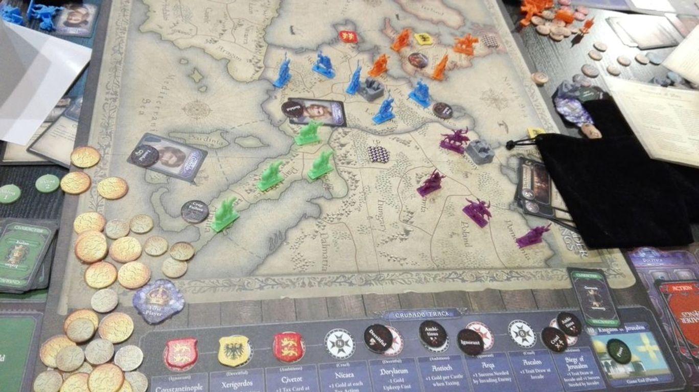 Crusader Kings: The Boardgame gameplay
