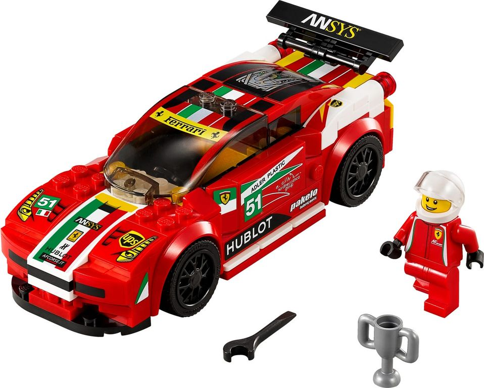 LEGO® Speed Champions Ferrari 458 Italia GT2 components