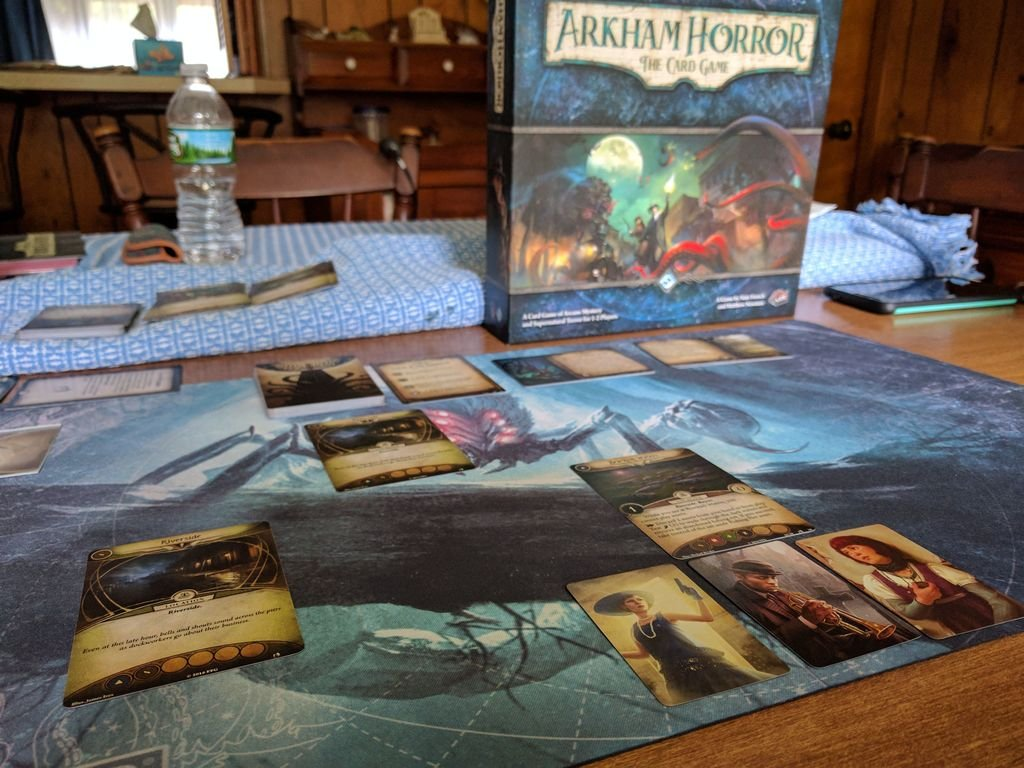 Arkham Horror: The Card Game - Curse of the Rougarou - Scenario Pack gameplay