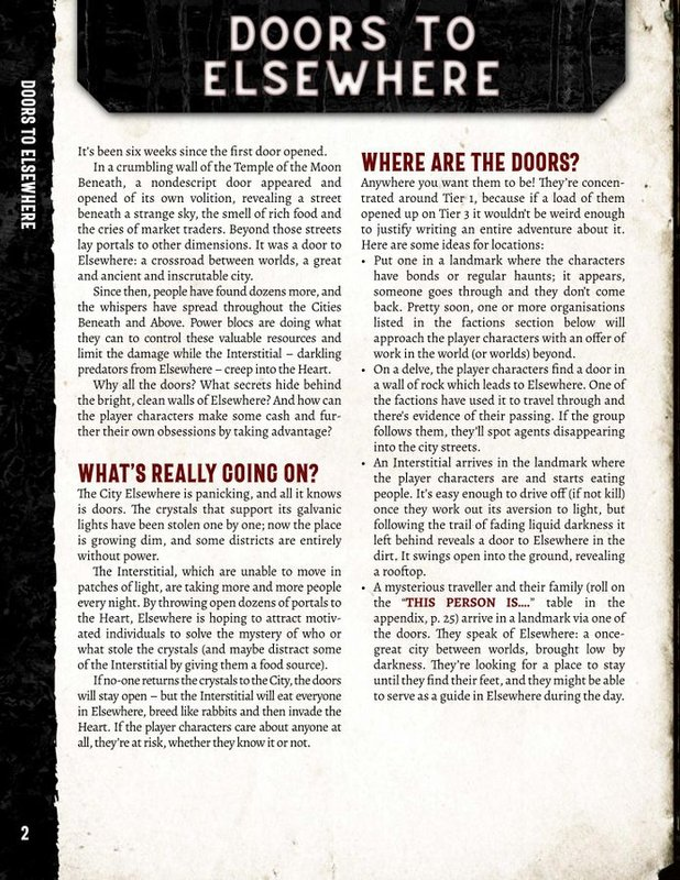 Doors to Elsewhere: A Heart Sourcebook manual
