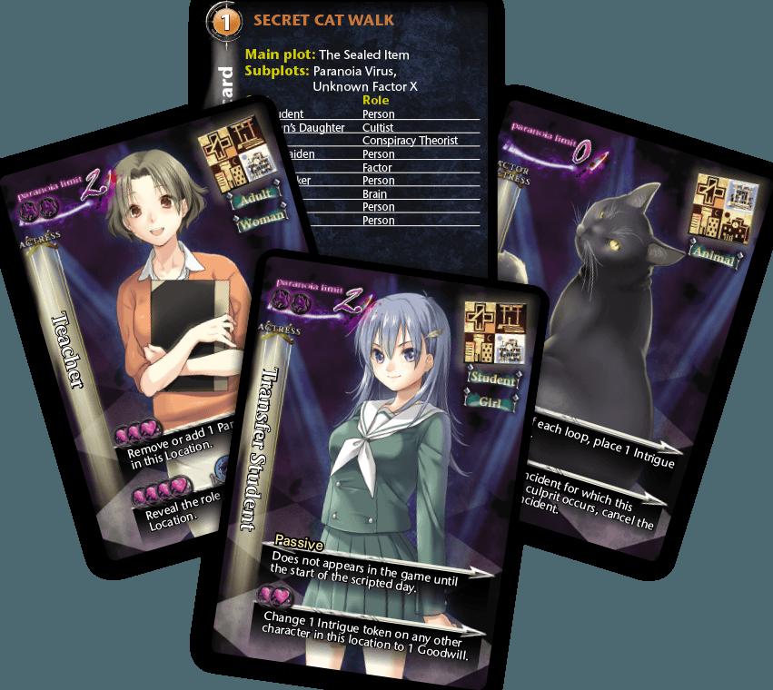 Tragedy Looper: Cosmic Evil cards