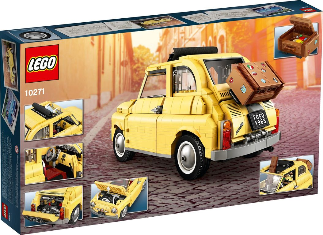 LEGO® Creator Expert Fiat 500 back of the box