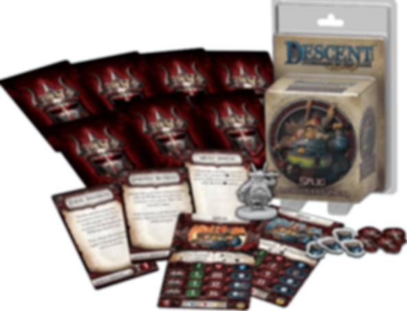 Descent: Journeys in the Dark (Second Edition) - Splig Lieutenant Pack composants