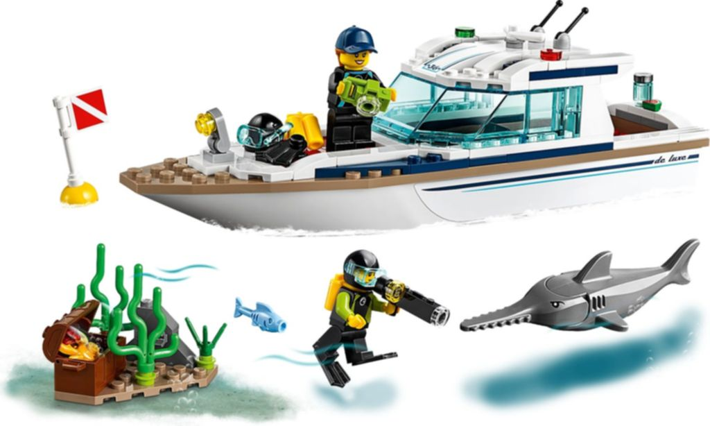 LEGO® City Diving Yacht gameplay