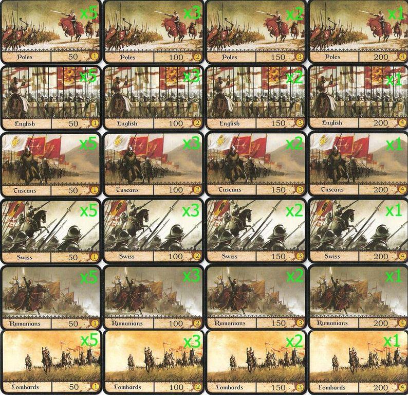Warrior Knights cards