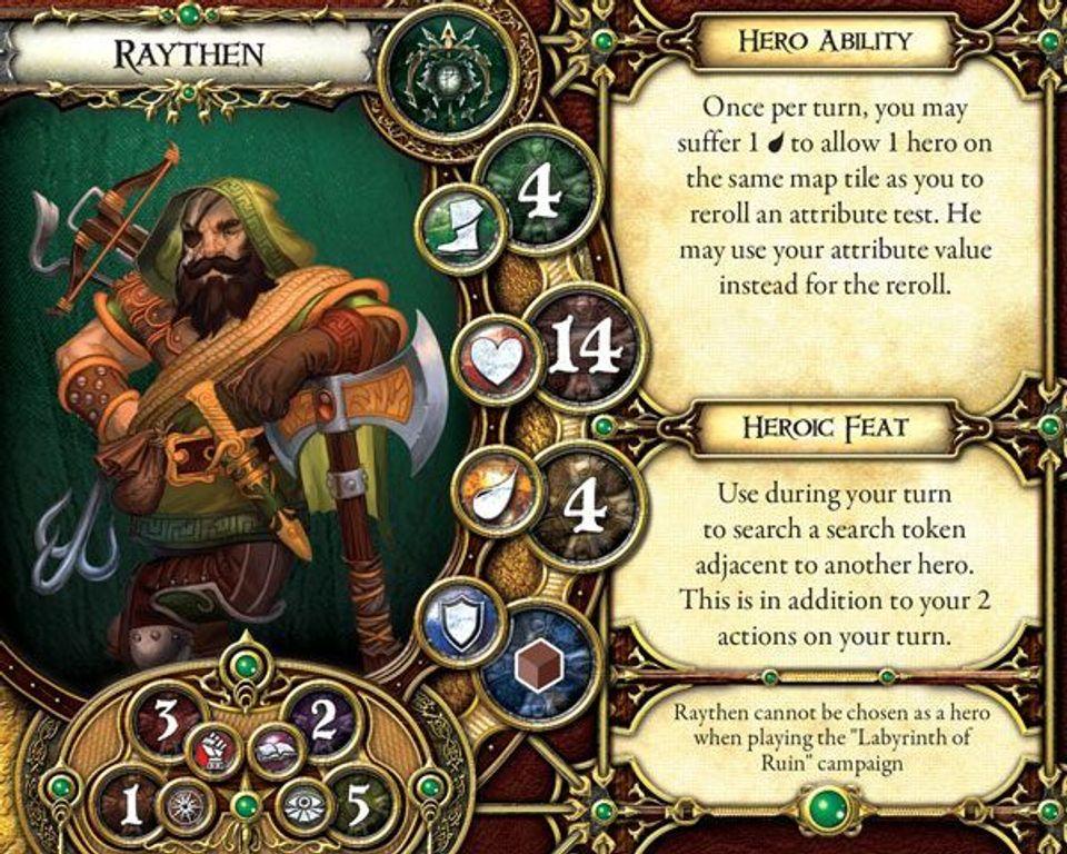 Descent: Viaggi nelle Tenebre (Seconda Edizione) - Pack Luogotenente Raythen carta