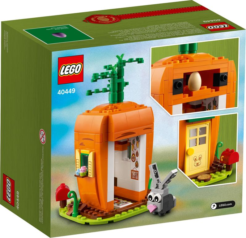 Easter Bunny's Carrot House back of the box
