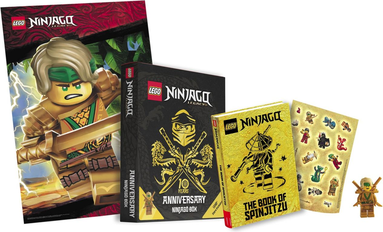 LEGO® Ninjago Anniversary Box components