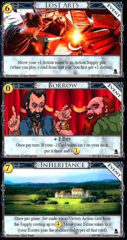 Dominion: Adventures cards