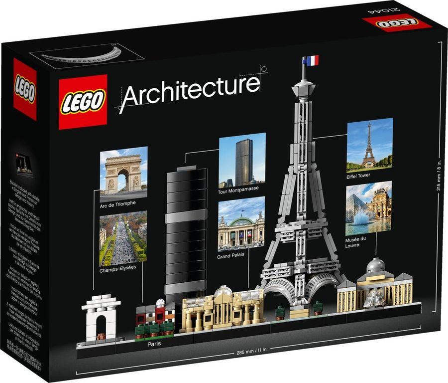 LEGO® Architecture Paris back of the box