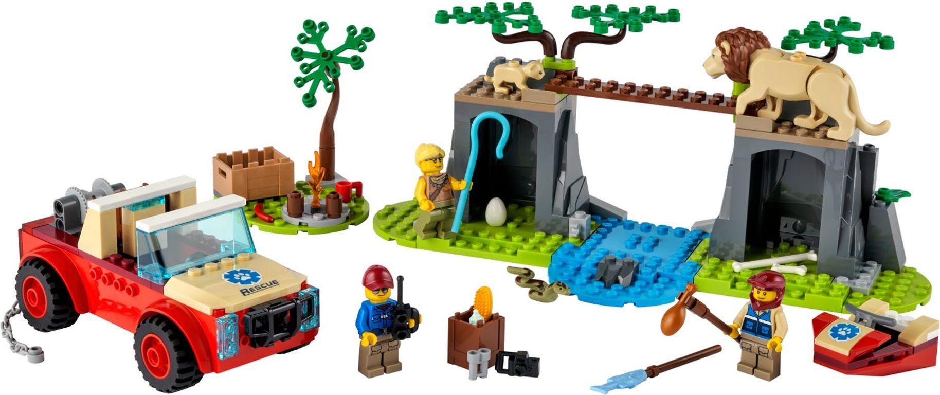 LEGO® City Wildlife Rescue Off-Roader components