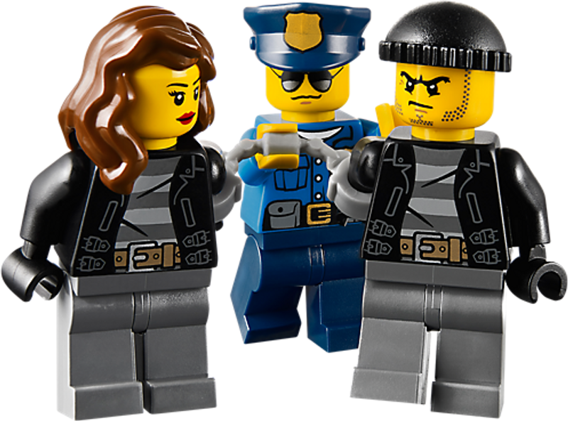 LEGO® City High Speed Police Chase minifigures