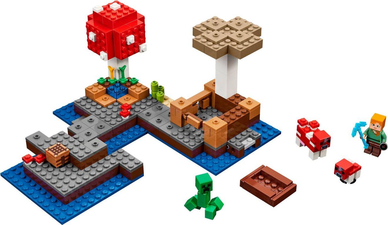 LEGO® Minecraft The Mushroom Island components