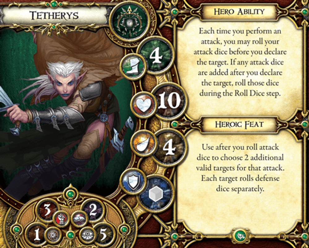 Descent: Journeys in the Dark (Second Edition) – Crusade of the Forgotten Tetherys card