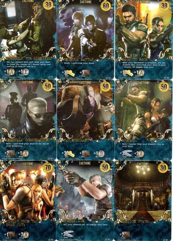 Resident Evil Deck Building Game cards