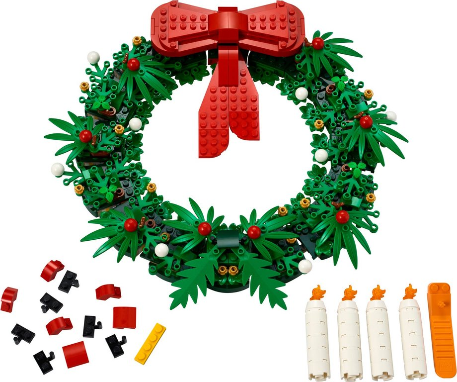 Christmas Wreath 2-in-1 components