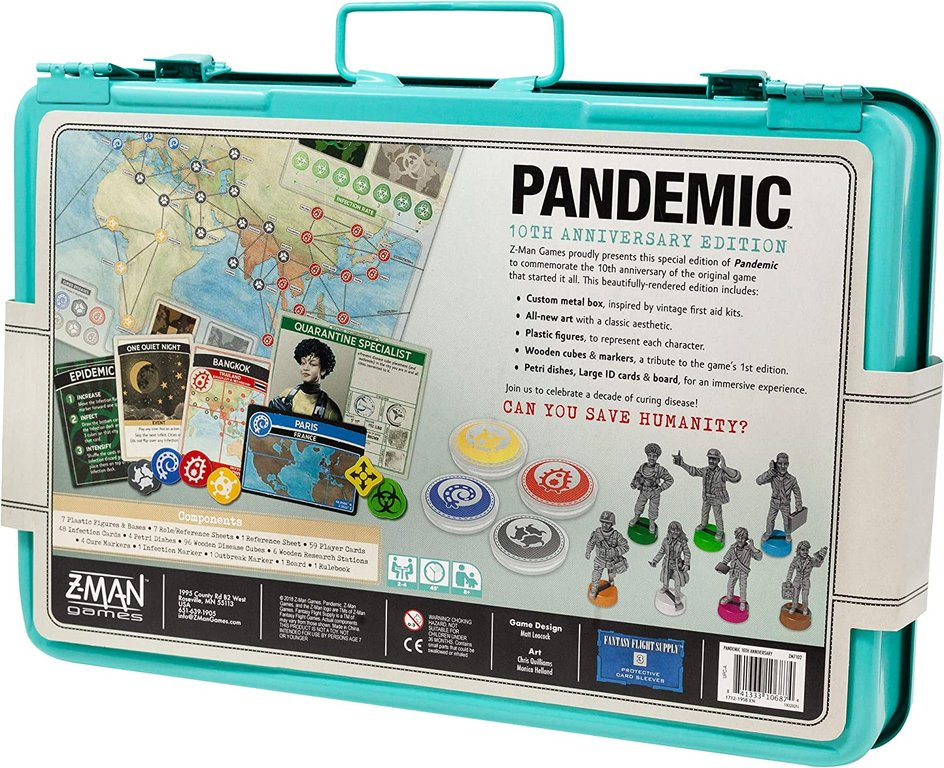 Pandemic 10th Anniversary back of the box