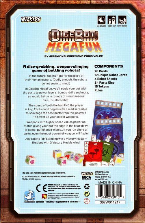 DiceBot MegaFun dos de la boîte