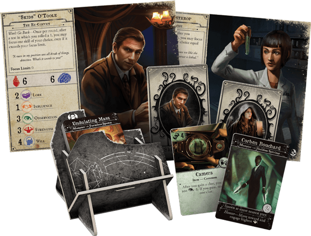 Arkham Horror (Third Edition): Dead of Night components