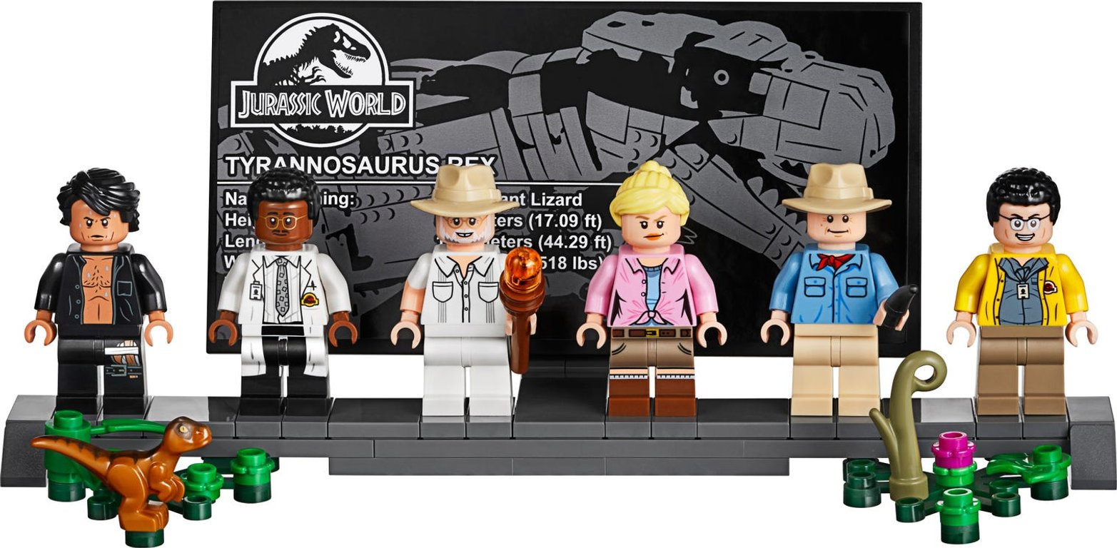 LEGO® Jurassic World Jurassic Park: T. rex Rampage characters