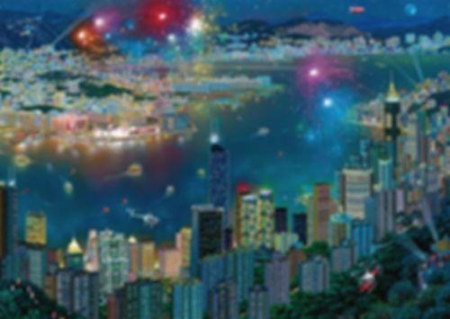Fireworks over Hong Kong
