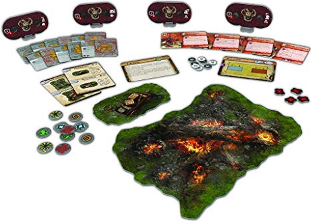 Runewars Miniatures Game: Uthuk Y'llan Army Expansion components