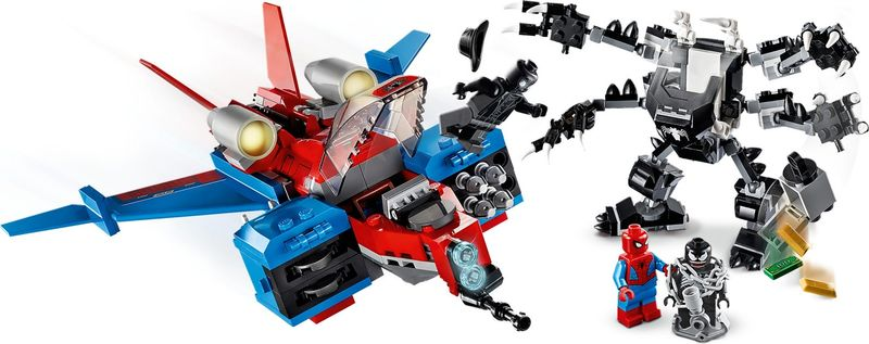 LEGO® Marvel Spiderjet vs. Venom Mech components