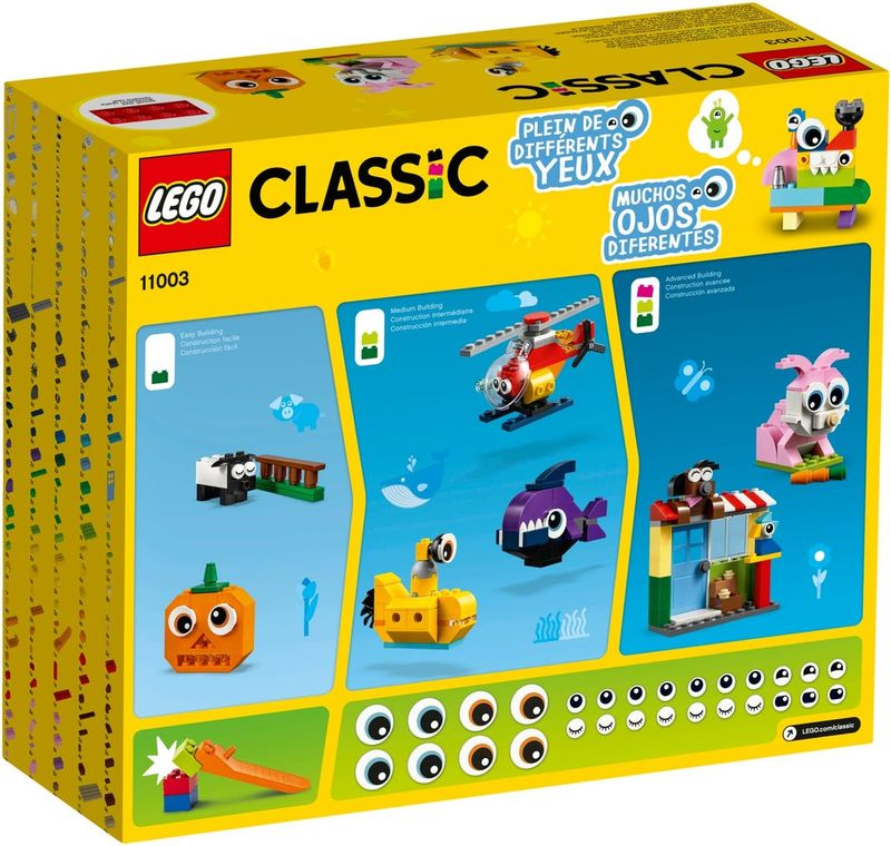 LEGO® Classic Bricks and Eyes back of the box