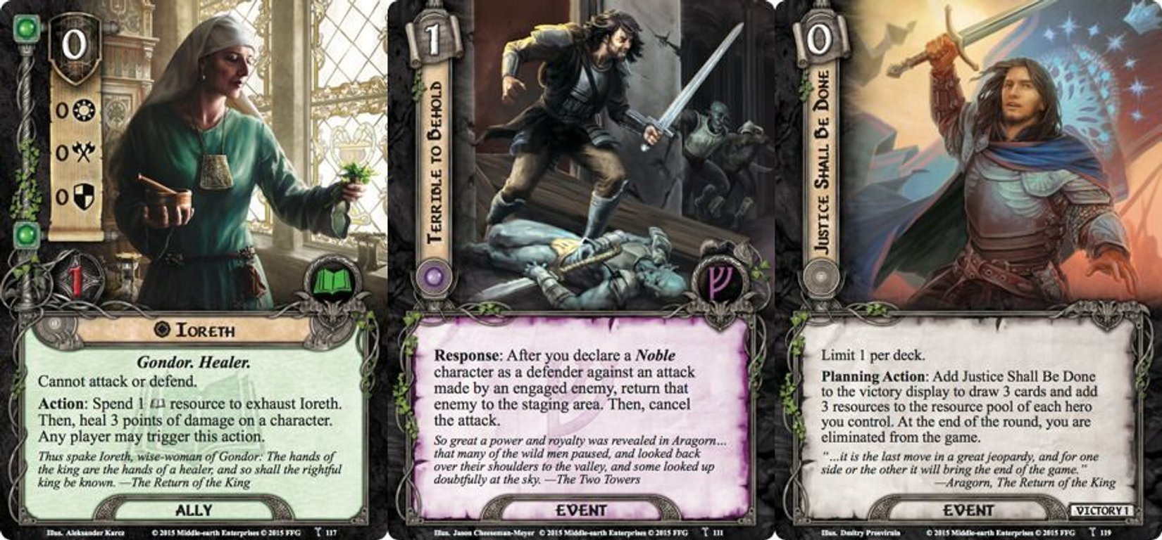 The Lord of the Rings: The Card Game - A Storm on Cobas Haven cards