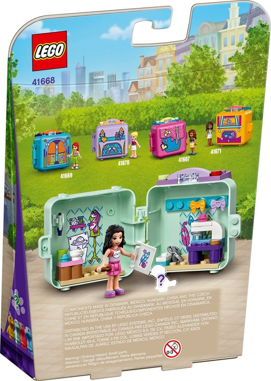 LEGO® Friends Emma's Fashion Cube back of the box