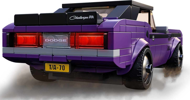 LEGO® Speed Champions Mopar Dodge//SRT Top Fuel Dragster and 1970 Dodge Challenger T/A back side