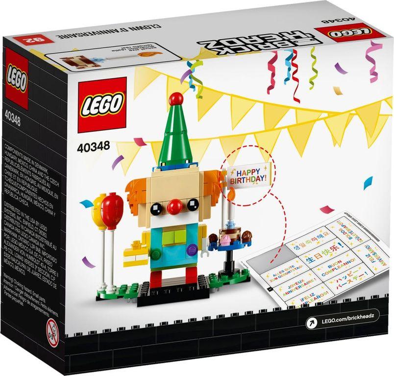 LEGO® BrickHeadz™ Birthday Clown back of the box