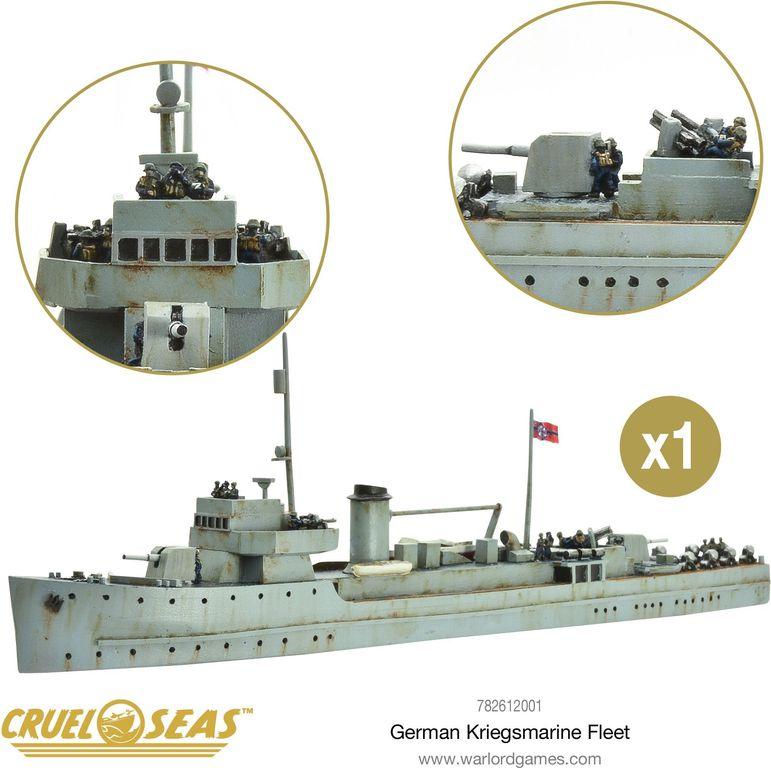 Cruel Seas: German Kriegsmarine Fleet miniatures