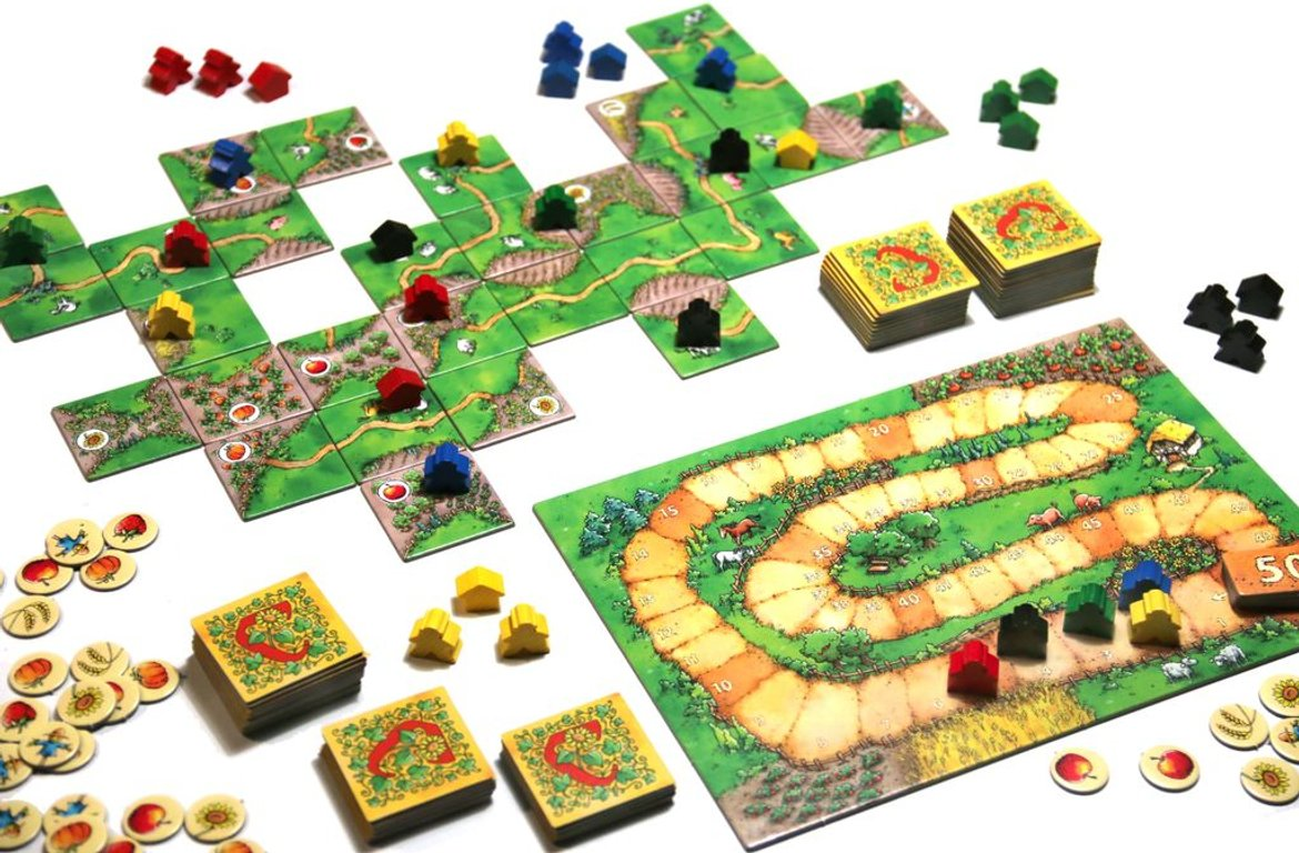 Carcassonne: Over Hill and Dale components
