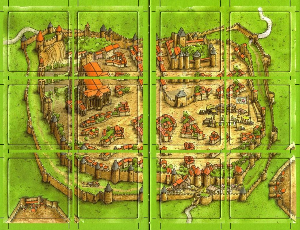 Carcassonne: Count, King & Robber tiles