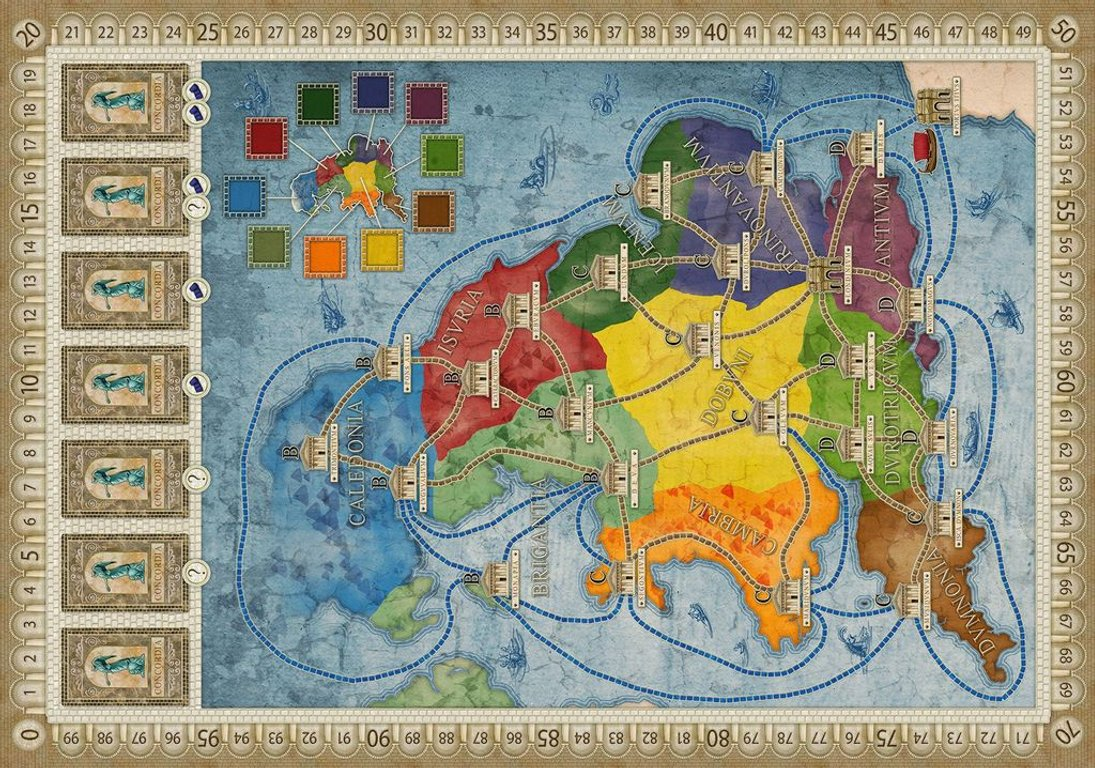 Concordia: Britannia / Germania game board